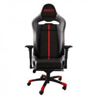 Žaidimų kėdė Sparco Gaming chair, Comp V, Black/Red Jaunuolio kėdės