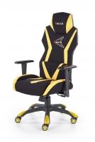 Žaidimų kėdė STIG juoda/geltona