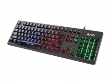 Žaidimų klaviatūra Fury HELLFIRE, apšvietimas, US layout, Juoda, USB