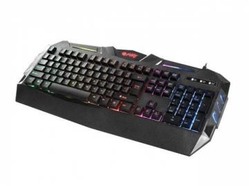 Žaidimų klaviatūra Fury SPITFIRE, apšvietimas, US layout, Juoda, USB