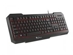Žaidimų klaviatūra Natec Genesis RX11, pašviestas, juoda USB