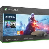 Žaidimų konsolė Microsoft Xbox One X - 1TB Battlefield V Gold Rush Special Edition Bundle Žaidimų konsolės ir priedai