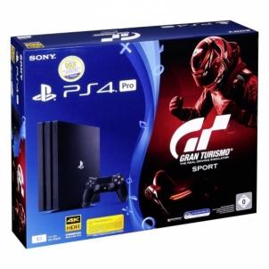 Žaidimų konsolė PS4 Pro 1TB Black 2+Dualshock Contr.+GTS