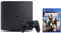 Žaidimų konsolė Sony Playstation 4 PRO 1TB (PS4) Black + Fortnite Žaidimų konsolės ir priedai