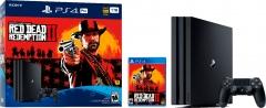 Žaidimų konsolė Sony Playstation 4 PRO 1TB (PS4) BLACK + Red Dead Redemtion 2 Žaidimų konsolės ir priedai