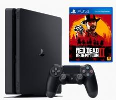 Žaidimų konsolė Sony Playstation 4 Slim 1TB (PS4) + Red Dead Redemption 2 Žaidimų konsolės ir priedai