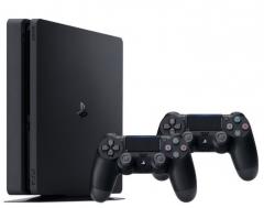 Žaidimų konsolė Sony Playstation 4 Slim 1TB (PS4) Black + 2 Dualshock Controller Žaidimų konsolės ir priedai
