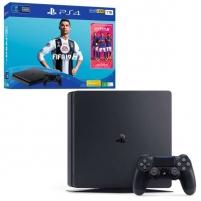 Žaidimų konsolė Sony Playstation 4 Slim 1TB (PS4) Black + Fifa 19 Žaidimų konsolės ir priedai
