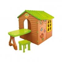 Žaidimų namelis su stalu ir kėde | Mochtoys 11045 Rotaļu laukumi