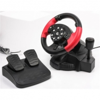 Žaidimų vairalazdė Gembird Multi-interface vibrating racing wheel (PC/PS2/PS3)