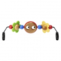 Žaislas ant lovytės Wooden Toy for Baby Sitter Balance Googly eyes