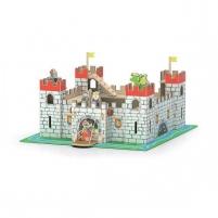 Žaislinė didelė medine pilis su figurėlėmis   Viga 50310