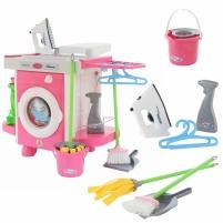 Žaislinė skalbimo mašina su valymo priedais 24 vnt | Wader