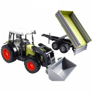 Žaislinė transporto priemonė Claas Nectic 267 with frontloader and tip.trailer