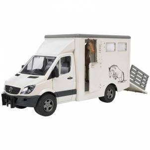 Žaislinė transporto priemonė MB Sprinter animal transporter incl.1 horse