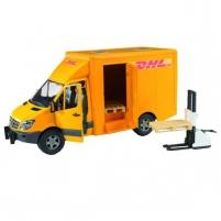Žaislinė transporto priemonė MB Sprinter DHL with hand pallet truck and 2pallet