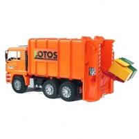 Žaislinė transporto priemonė Rear loading garbage truck(orange)