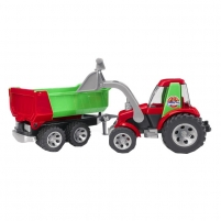 Žaislinė transporto priemonė ROADMAX Tractor with Front Loader and Rear Tipper