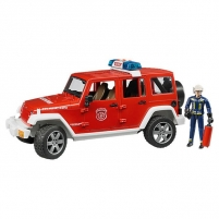 Žaislinis automobilis Jeep Wrangler fire with figure