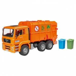 Žaislinis automobilis Man garbage truck orange