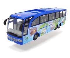 Žaislinis mėlynas autobusas   Beach Travel Bus 2018   Dickie