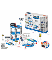 Žaislinis policijos mašinų ir parkingo rinkinys OC111