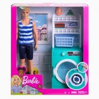 Žaislinis rinkinys FYK52 / FYK51 Barbie Ken Laundry Room Playset