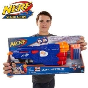Žaislinis šautuvas su šoviniais B4620 Nerf NSTRIKE DUAL STRIKE HASBRO