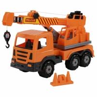 Žaislinis sunkvežimis kranas 43 cm | Oranžinis | Wader Toys for boys