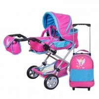 Žaislinis vežimėlis Puppenkombi Luke mit Trolley -Fairy