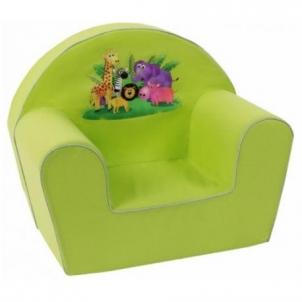 Žalias foteliukas su džiunglių gyvūnais Foteliai, sėdmaišiai vaikams