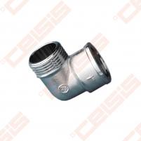 Žalvarinė chromuota (matinė) 90° alkūnė METALGRUP 92 Dn1 Žalvarinės chromuotos alkūnės
