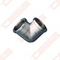 Žalvarinė chromuota (matinė) 90°alkūnė METALGRUP 90 Dn3/4 Žalvarinės chromuotos alkūnės