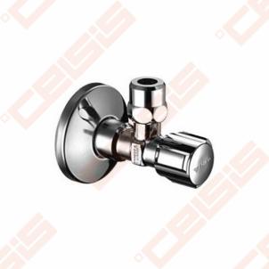 Žalvarinis chromuotas (blizgus) SCHELL Comfort ventilis su veržle Dn1/2 x Ø10