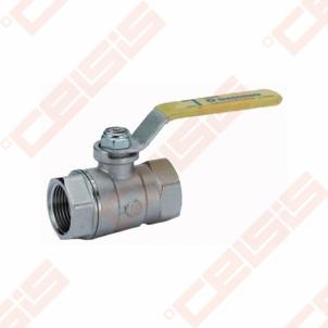 Žalvarinis chromuotas (matinis) GIACOMINI R250D rutulinis ventilis dujoms Dn3/8 Gāzes lodveida vārsti