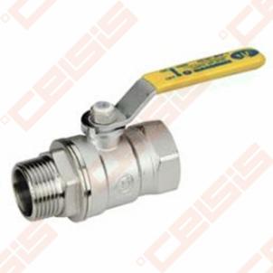 Žalvarinis chromuotas (matinis) GIACOMINI R254DL rutulinis ventilis dujoms Dn1 Kontroles vārsti