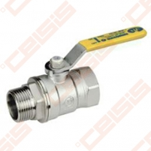 Žalvarinis chromuotas (matinis) GIACOMINI R254DL rutulinis ventilis dujoms Dn2 Gas ball valves