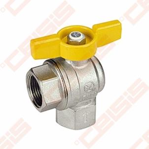 Žalvarinis chromuotas (matinis) GIACOMINI R783 rutulinis ventilis dujoms Dn1/2 Rutuliniai ventiliai dujoms