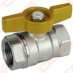 Žalvarinis chromuotas (matinis) GIACOMINI R851 rutulinis ventilis dujoms Dn1 Gas ball valves