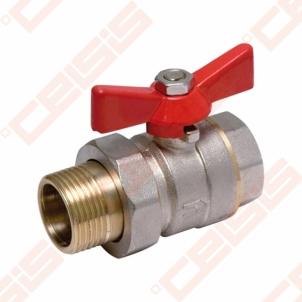 Žalvarinis chromuotas (matinis) SLOVARM KE-280 rutulinis ventilis Dn1.1/4 Rutliniai vārsti, misiņa
