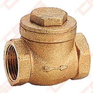 Žalvarinis GIACOMINI N6 horizontalus atbulinis vožtuvas Dn1.1/4 Check valves