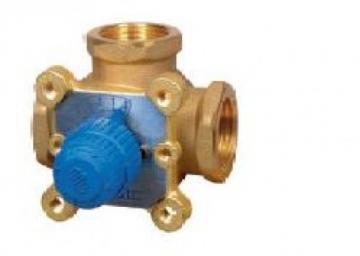 Žalvarinis rotacinis vožtuvas VDM3 DN25, srieginis, trieigis, kvs 12 Heating systems management
