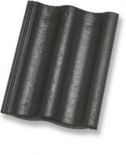 ZANDA PROTECTOR 2,0, Betoninė čerpė, juoda Betoninės čerpės