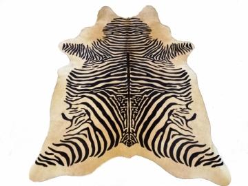 Zebro rašto karvės kailis 225x185 cm Kilimai