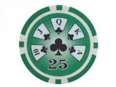 25 vnt. Royal Flush 13,5 g. 25 Žaidimai, kortos