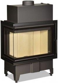 Židinio ugniakuras kampinis HL2SY23 60.44.33.23 dviejų dalių kairės pusės stiklu 44 cm ir atv. durimis Židiniai, pirties krosnelės