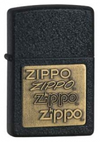 Žiebtuvėlis ZIPPO Z362, Brass Emblem Black Crackle Key chains