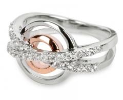 Žiedas Silver Cat sidabrinis su kristalais SC025 (Dydis: 60 mm) Žiedai