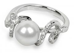 Žiedas Silver Cat sidabrinis su kristalais SC028 (Dydis: 56 mm) Gredzeni