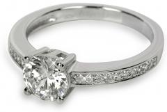 Žiedas Silver Cat sidabrinis su kristalais SC031 (Dydis: 58 mm) Rings